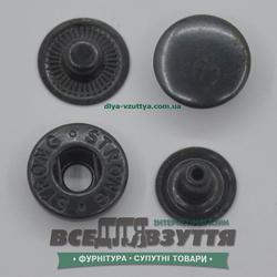 Кнопка металлическая гладкая АЛЬФА Ø 15мм цв. Черный