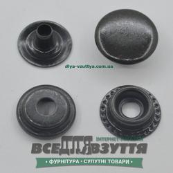 Кнопка металлическая гладкая КАППА Ø 15мм цв. Черный