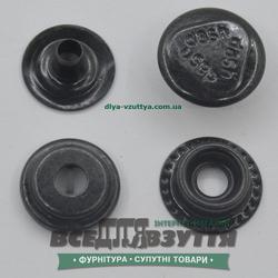 """Кнопка металлическая """"DASH"""" КАППА Ø 15мм цв. Черный"""