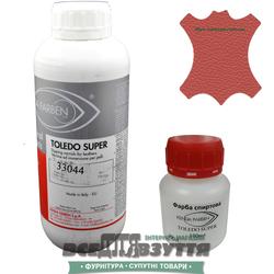 Краска для кожи KENDA FARBEN TOLEDO SUPER 100мл/1Л  светло-красный 33044