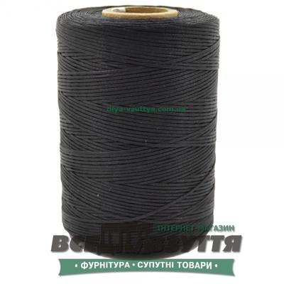 Шнур вощеный плоский 0,8мм 500м цв.Черный