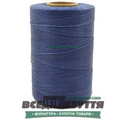 Шнур вощеный плоский 1.0мм 500м цв.Синий