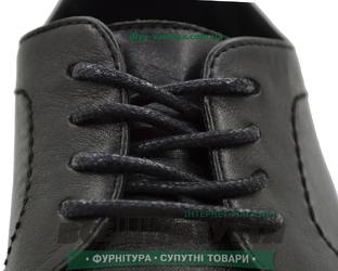 Шнурок вощеный круглый 1.2.8 (120см) черный