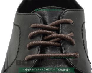 Шнурок вощеный круглый 1.2.8 (120см) коричневый