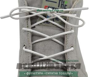 Шнурок вощеный круглый 1.2.0 (150см) белый