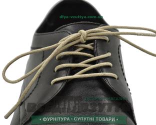 Шнурок вощеный круглый 1.2.0 (50см) светло-бежевый.