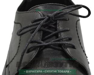 Шнурок вощеный круглый 1.2.0 (90см) черный