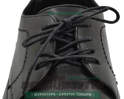 Шнурок вощеный круглый 1.2.0 (120см) черный
