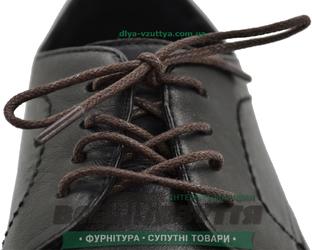 Шнурок вощеный круглый 1.2.0 (80см) коричневый