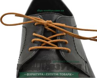 Шнурок вощеный круглый 1.2.0 (50см) рыжий