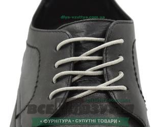 Шнурок вощеный круглый 1.2.0 (50см) светло-серый