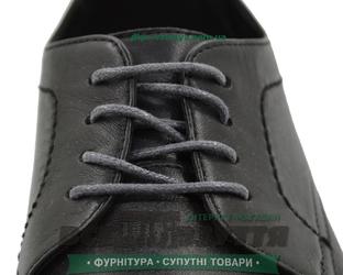 Шнурок вощеный круглый 1.2.0 (50см) темно-серый