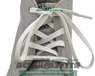 Шнурок вощеный плоский 2х5 (120см) белый