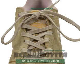 Шнурок вощеный плоский 2х5 (120см) бежевый