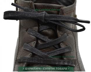 Шнурок вощеный плоский 2х5 (80см) черный