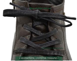 Шнурок вощеный плоский 2х5 (120см) Черный