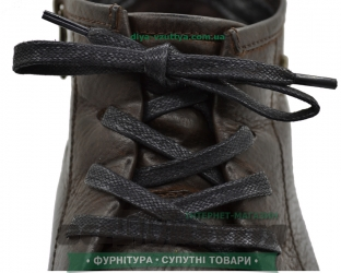 Шнурок вощеный плоский 2х5 (150см) Черный
