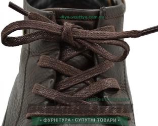 Шнурок вощеный плоский 2х5 (90см) коричневый