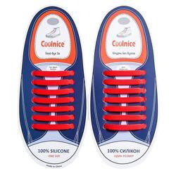 Силиконовые шнурки Coolnice 7+7 One Size цв. Красный