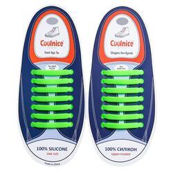 Силиконовые шнурки Coolnice 7+7 One Size цв. Салатовый