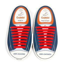 Силиконовые шнурки Coolnice 8+8 цв. Красный