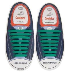 Силиконовые шнурки Coolnice 8+8 цв. Изумрудный