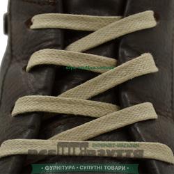Шнурок вощеный плоский 2х5 (70см) бежевый