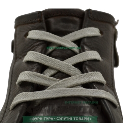 Шнурок вощеный плоский 2х5 (120см) светло-серый