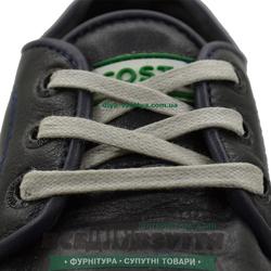 Шнурок вощеный плоский 2х5 (60см) светло-серый