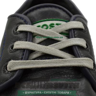 Шнурок вощеный плоский 2х5 (80см) светло-серый