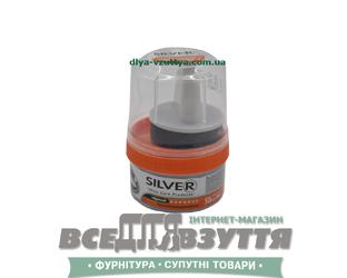 Крем-блеск для гладкой кожи SILVER 50ml черный