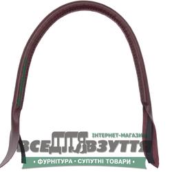 Ручки кожаные на сумку (59см)  цв. Бордовый