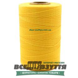Шнур вощеный плоский 1.0мм 500м цв.Желтый