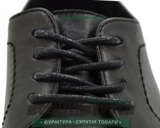 Шнурок вощеный круглый 1.2.8 (80см) черный