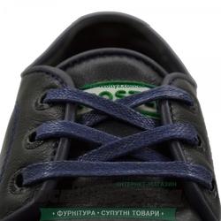 Шнурок вощеный плоский 2х5 (80см) синий