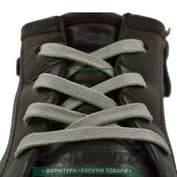 Шнурок вощеный плоский 2х5 (90см) светло-серый