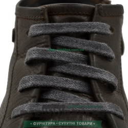 Шнурок вощеный плоский 2х5 (80см) темно-серый